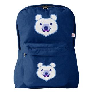 Cute Minimalist Cartoon Polar Bear Backpack