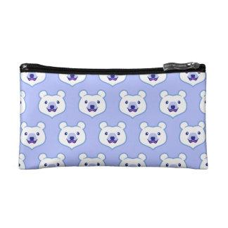 Cute Minimalist Cartoon Polar Bear Cosmetics Bags