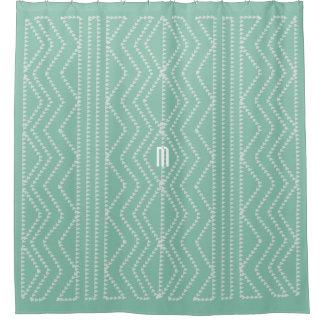 Cute Mint Arrows Geometric Pattern Monogrammed