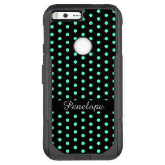 Cute Mint Dots Pattern Add your name OtterBox Commuter Google Pixel XL Case