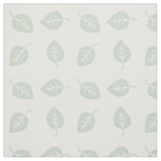 Cute Mint Leaf Pattern Fabric