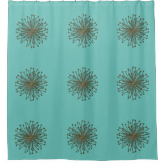 Cute mint trendy modern abstract dandelion