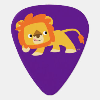 Cute Mischievous Cartoon Lion Pick