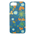 Cute mixed blue paisley colourful flowers patterns iPhone 8/7 case