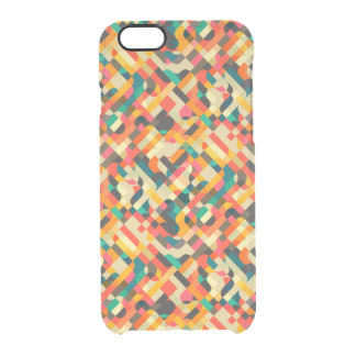 Cute mixed colors design clear iPhone 6/6S case
