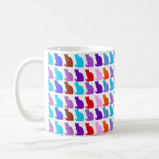 Cute modern cat pattern mug