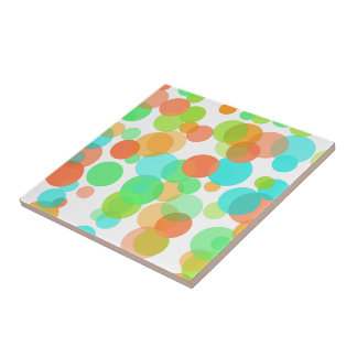 Cute Modern Funky Whimsical Summer Dots Pattern Tile
