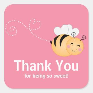 Cute Modern Honey Bee Baby Shower Invitation Stickers