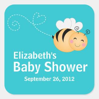 Cute Modern Honey Bee Baby Shower Invitation Sticker