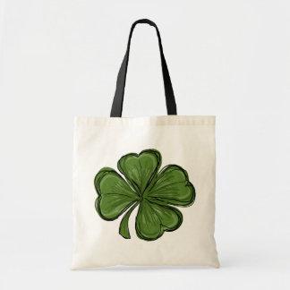 Cute Modern Shamrock Tote Bag
