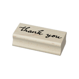 Cute Modern Wedding Thank You Typography Rubber Stamp