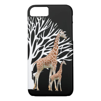 Cute Mom And Baby Giraffe iPhone 7 Case