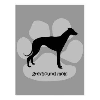 Cute mom Greyhound Post Cards