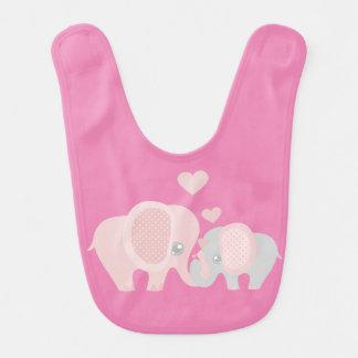 Cute Momma and Baby Elephants Bib