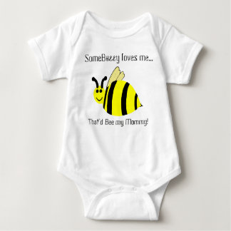 Cute Mommy Loves Me Bumble Bee Infant Shirt
