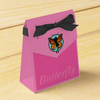 CUTE MONARCH BUTTERFLY LADY TENT FAVOR BOX
