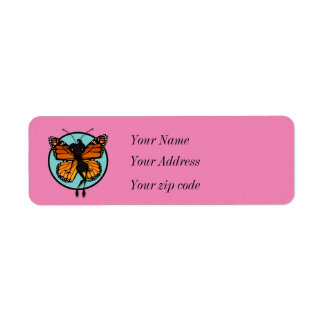 CUTE MONARCH BUTTERFLY RETURN ADDRESS LABELS
