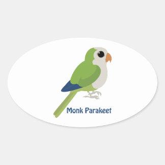 Cute Monk Parakeet Stickers