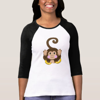 Cute Monkey 3/4 Sleeve Shirt