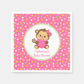 Cute Monkey Baby Shower Napkins Disposable Napkins