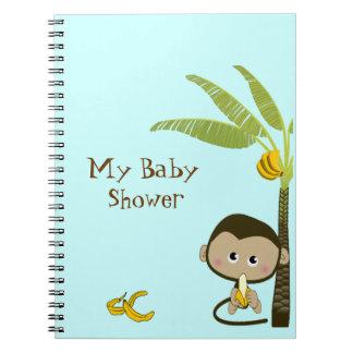 Cute Monkey Baby Shower Notebook