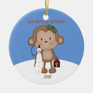 Cute Monkey Big Brother Ornament