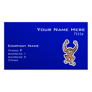 Cute Monkey; Blue Double-Sided Standard Business Cards (Pack Of 100)