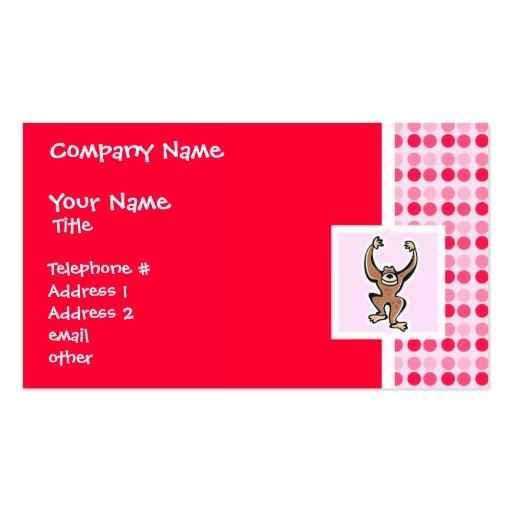 Cute Monkey Business Card Template
