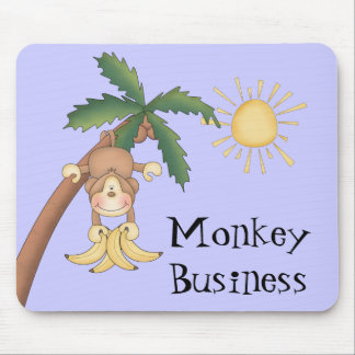 Cute Monkey Business Mouse Pad