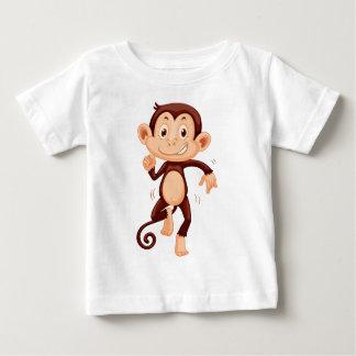 Cute monkey dancing alone baby T-Shirt