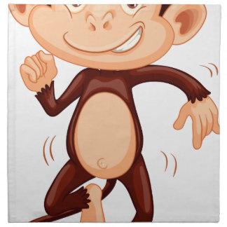 Cute monkey dancing alone cloth napkins