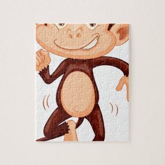 Cute monkey dancing alone jigsaw puzzle
