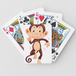 Cute monkey dancing alone poker deck