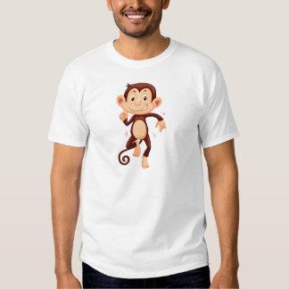 Cute monkey dancing alone tshirt