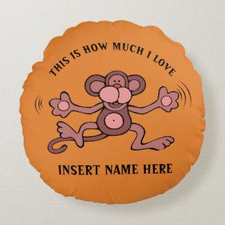 Cute Monkey design Round Pillow