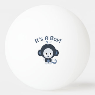 Cute Monkey - It's a boy! Ping Pong Ball
