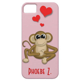 Cute Monkey Love Personalized iPhone 5 Case