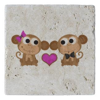 Cute Monkey Love Trivet