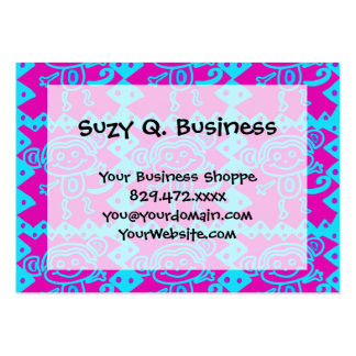 Cute Monkey Magenta Teal Animal Pattern Kids Gifts Business Cards