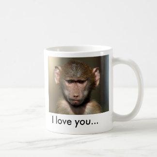 Cute Monkey Mug - I love you...