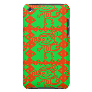 Cute Monkey Orange Green Animal Pattern iPod Touch Case-Mate Case