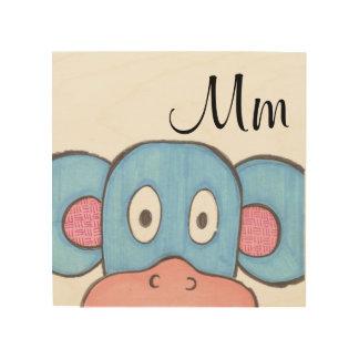 Cute Monkey Panel Art - M is for Monkey