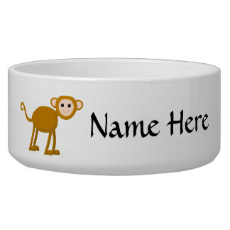 Cute Monkey. Pet Water Bowls
