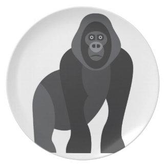 Cute monkey plate