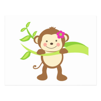 Cute Monkey.png Postcard