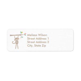 Cute Monkey Return Address Labels