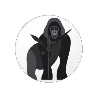Cute monkey round clock