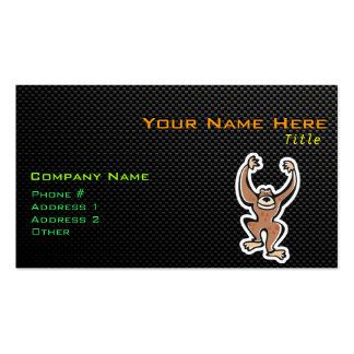 Cute Monkey; Sleek Double-Sided Standard Business Cards (Pack Of 100)