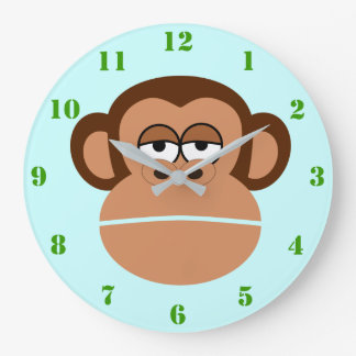 CUTE MONKEY (WITH NUMERALS) Wall Clock