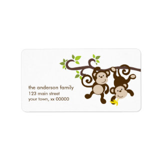 Cute Monkeys Label
